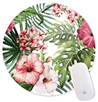 Mouse Pad,Cute Cactus Flower Plant Design Round Mousepad. Customized Gaming Mousepads for Laptop and Computer. Cute Design Desk Accessories. Non-Slip, Stitched Edges, Waterproof [並行輸入品]
