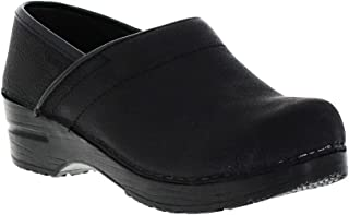 Women's Professional Oil Closed Leather Clog