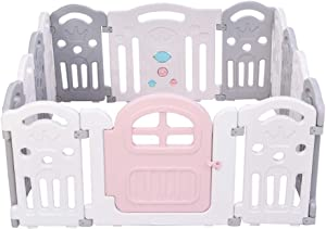 Relaxbx Baby Play Fence  Plastic Baby Fence  Indoor Child Safety Home Crawling Mat Portable Durable Fence
