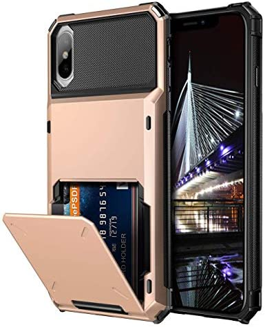 Vofolen Case for iPhone XS Case iPhone X Case Wallet ID Slot Credit Card Holder Scratch Resistant product image