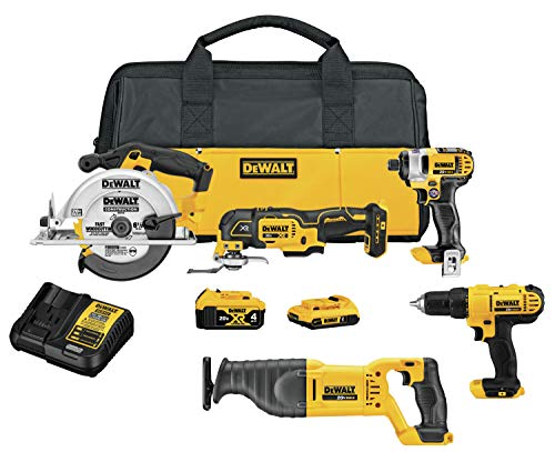 DEWALT 20V MAX Cordless Drill Combo Kit  5Tool DCK551D1M1
