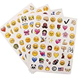 This is the Emoji sticker pack die cut stickers for Phone, notebook, scrapbook. 48 Stickers per sheet die cut design. Sheet size: About 18cm*13.5cm Material: Paper Package includes: 4 Sheets
