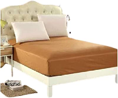 "Mehak Cotton 200 72""*78""*10"" King Size Waterproof Mattress Protector (Brown)"