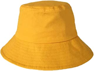 SHYPwM Fisherman Hat Female Summer Sunscreen Black Small Basin Cap UV Protection Sun Hat Female (Color : Yellow)