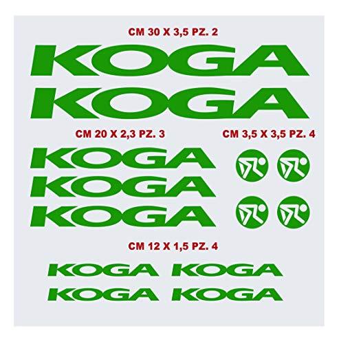 Koga-Aufkleber-Set für Fahrrad, kompatibel mit MBK Fahrrad-Aufklebern, Farbe wählbar, Artikelnummer: 1426 (064 Limettengrün)