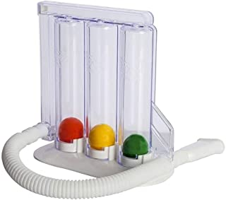 Profundo Breathing Pulmón Ejercitador 3-cámara Incentivos Espirómetro De