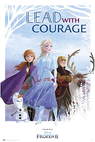 Grupo Erik Reine Des Neiges 2 Póster Frozen Lead with Courage 2, Multicolor, 91, 5 x 61 cm