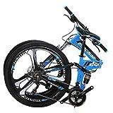 Eurobike Folding Mountain Bike 21 Speed Full Suspension 26
