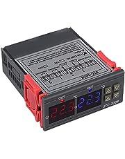 MLXG Stc-3008 110-220 V dubbele temperatuurregelaar, digitale thermostaat voor hygrometer, luchtbevochtiger met thermostaat voor incubator