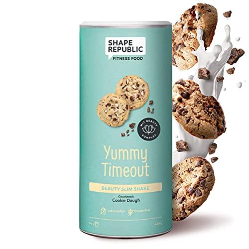 Shape Republic Beauty Slim Shake Cookie Dough (420g) | Substitut de repas pour contrôle du poids | Shake de régime hyperprotéiné pour la perte de poids | Substitut de repas complet avec vitamines