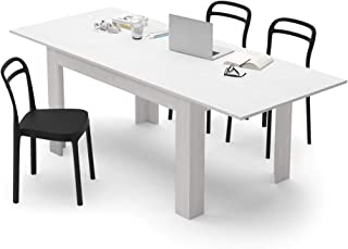 2a2f1617bcc18 Mobili Fiver, Table Extensible Cuisine, Easy, Frêne Blanc, 140 x 90 x