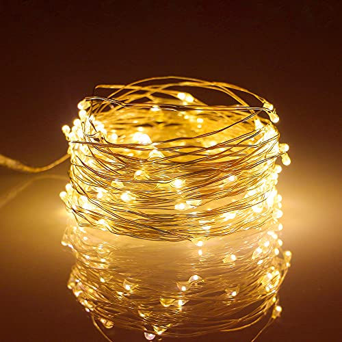 Metaku Fairy Lights Battery Operated 10Ft/3M 30 LED String Lights Twinkle Christmas Lights Indoor Decorative Mini Lights for Home Bedroom Garden Wedding Party Festival Decorations (Golden, 2 Pack)
