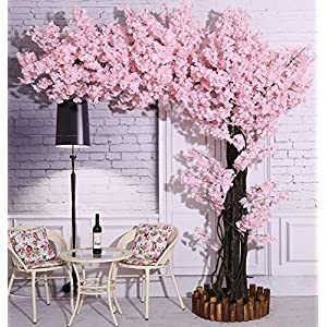 Vicwin-One Artificial Cherry Blossom Trees Light Pink Cherry Blossom Tree Arch Pink Fake Sakura Flower Indoor Outdoor Home Office Party (7FT Tall/5.5FT Width)