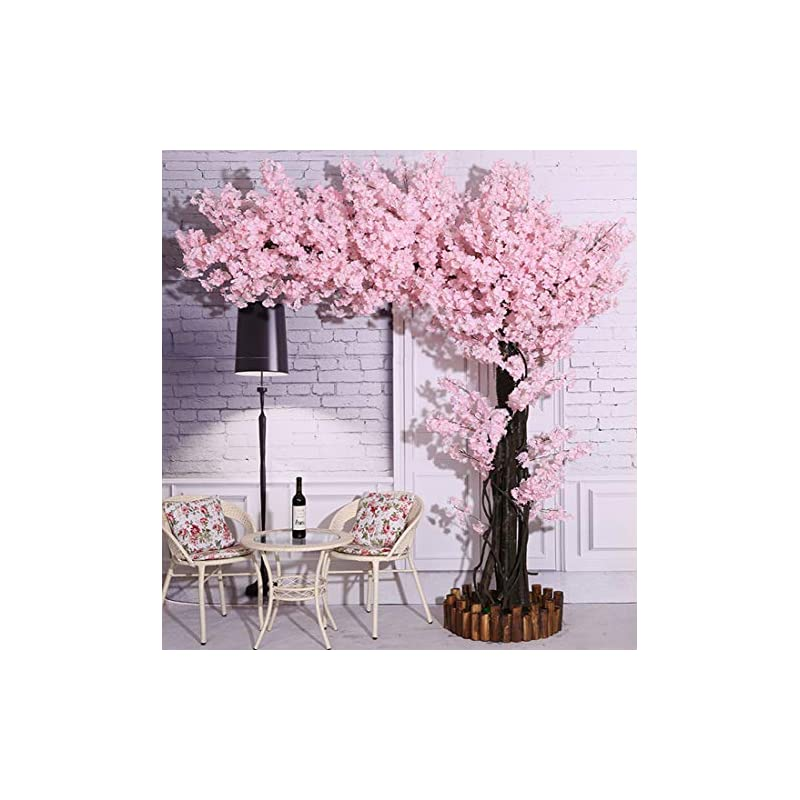 silk flower arrangements vicwin-one artificial cherry blossom trees light pink cherry blossom tree arch pink fake sakura flower indoor outdoor home office party (7ft tall/5.5ft width)
