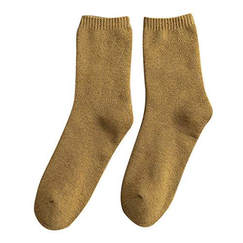 Lazzboy Herren Pure Color Mid Tank Socken Herbst Winter Verdickt Warme Terry Damen Wollsocken Für Dicke Baumwollsocken Atmungsaktive Weiche Thermosocken Einheitsgröße(I)