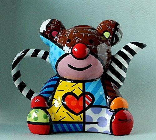 ROMERO BRITTO Teekanne - Teddy Bär - Pop Art Kunst aus Miami #334411