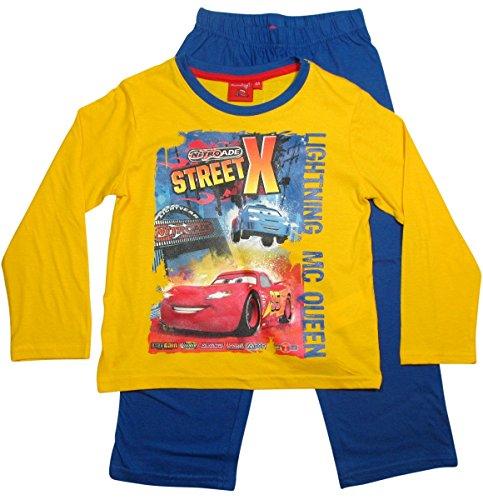 Cars Disney 2 Kollektion 2016 Schlafanzug 92 98 104 110 116 122 128 Jungen Pyjama Neu Lang Lightning McQueen Gelb-Blau (92-98, Gelb-Blau)