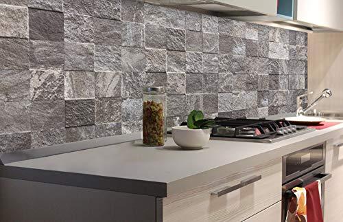 DIMEX LINE Paraschizzi Auto-Adesiva per la Cucina MATTONELLE della Parete 180 x 60 cm   Resistente all'Acqua   QUALITA' Premium