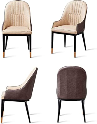Dining Chairs With Armrests and Soft Back,Leather Dining Chairs Chairs for Kitchen Living Room Office,Blue