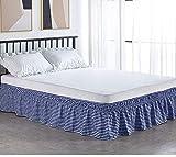 LANG ZI Falda de Cama, 150/135 cm Volantes elástica Falda de Cama 38cm Bedding Ruffled Bedskirt Medidas canapé Cubre unda de Somier Faldón de Volantes con (Color : C, Size : 100 * 200cm)