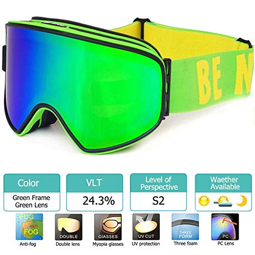 Lowest Prices! XIONGHAIZI 2019 Ski Goggles 2 in 1 with Magnetic Dual-use Lens for Night Skiing Anti-...