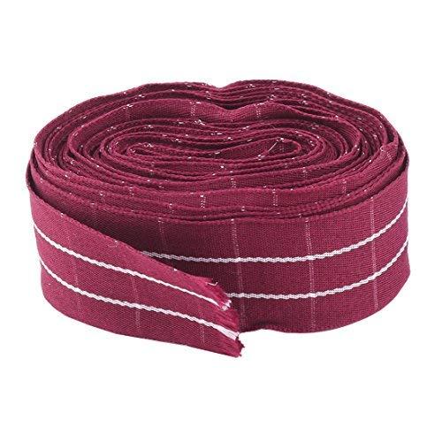 Cinta decorativa de poliéster para el pelo, corbatas, 10 metros, borgoña