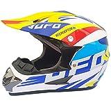 TKYZYY Casco de motocross anticolisión, para adolescentes, para adultos, ATV, SUV, máscara de gafas, con certificado DOT, 4 piezas, unisex
