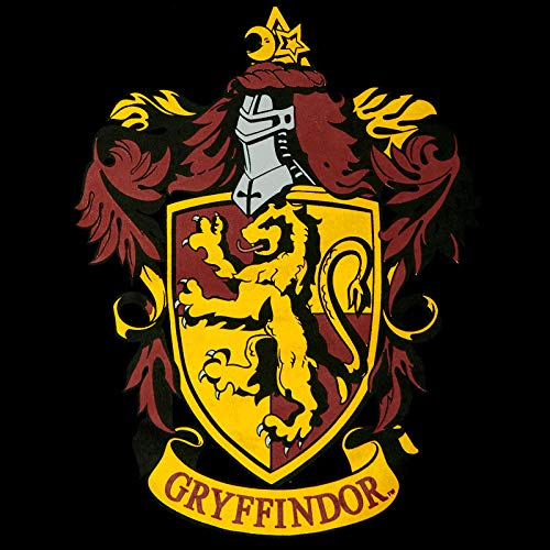 Elbenwald Cresta de impresión casa Harry Potter Gryffindor Pijama en el Frente y Letras en Negro Pantalones de algodón 2 Partes - L