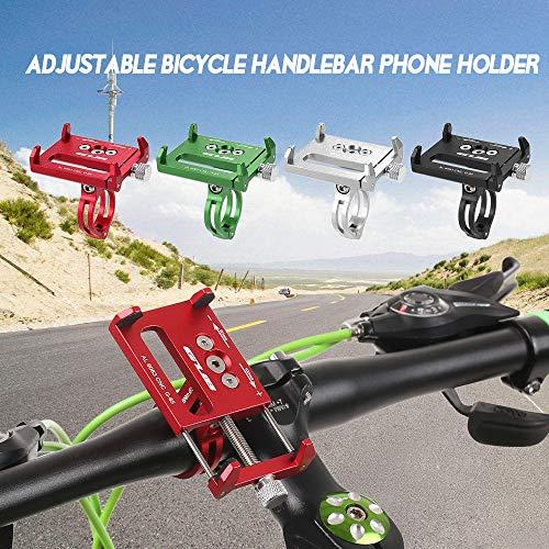 Funien マウンテンバイクの携帯電話ブラケットユニバーサル調整可能な自転車携帯電話GPSブラケットブラケットブラケットクレードルクリップ