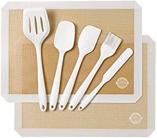 white kitchen utensils