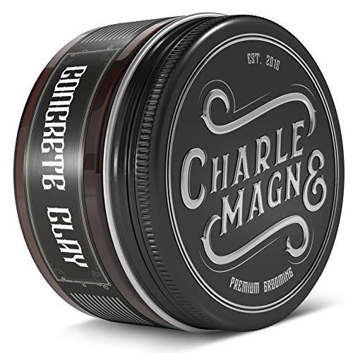Charlemagne Concrete Clay - Super Starker Halt - Haarwachs Matt - Haar Clay Pomade Matt Look - Haar Wachs Styling Cream - Haarwax Männer - Haarpaste Männer Matt - Haarstyling Produkte Made In Germany