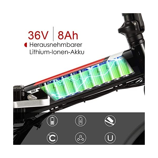 51KTiq3BGiL. SS600  - ANCHEER E-Bike Elektrofahrrad, 20 Zoll Pedelec Elektrisches Fahrrad mit Lithium-Akku (36 V 8Ah) & 250 W Motor & Shimano 7-Gang-Schalthebel