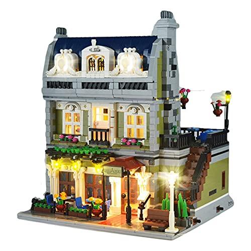 QZPM Kit De Luces Led para Lego 10243 (Restaurante Parisino), Juego De Luces Led Compatible con El Modelo De Bloques De Construcción (NO Incluido El Modelo)