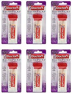 The Doctor's BrushPicks Interdental Toothpicks | 120-Picks per pack | (6-Pack)