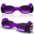 Newest Generation Electric Hoverboard Dual Motors Two Wheels Hoover Board Smart Self Balancing Scooter with Built-in Bluetooth Speaker LED Lights for Adults Kids Gift