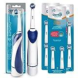 Dental Source Pack Cepillo eléctrico de regalo + 10 Recambios TOTAL CLEAN, Cabezales para Oral-B cepillo de dientes eléctrico, Fabricado en USA, Contiene 1 cepillo con recambio y 8+2 recambios