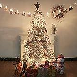ZLJ Árbol de Navidad Artificial Cubierto de Nieve árbol de Navidad Completo LED Blanco Premium de 150 cm con Soporte de Metal y Adornos para Interiores y Exteriores