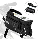 AUTOWT Bicycle Phone Mount Bags, Waterproof Bike Tool Bag with TPU Touch Screen, TopTubeBikeBag Fits for iphone7 8 Plus/XR/Xs Max Samsung Huawei Up to 6.6'