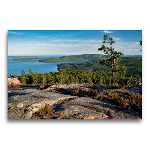 Premium Textil lienzo 75 cm x 50 cm horizontal, vista del Skuleskogens Parque nacional en el jardín del océano del Mar Báltico, Suecia, cuadro de pared, lienzo impreso (CALVENDO Natur);CALVENDO Natur