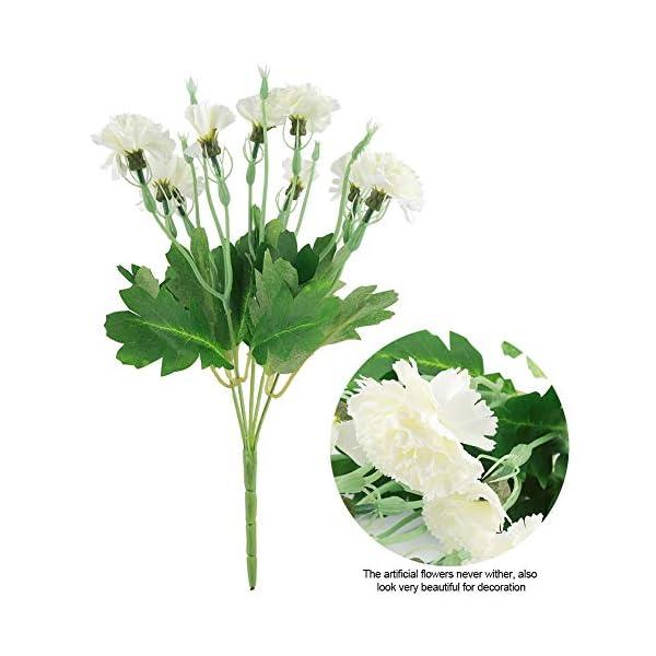 Combort 10 Cabezas Artificiales Claveles Flores Artificiales Falsas Ramo de Novia Arreglo Floral para la Fiesta de Bodas…