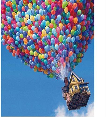 Houten puzzel 1000 stukjes Jigsaw volwassen klassieke 3D-puzzel verzending ballon landschap Diy Home Decor-75X50Cm