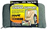 The ComfortMakers Lumbar Support, Universal, Self-Adjustable, Ergonomic Back Support, Office, Car, Airplane, Made in the USA, Washable, Gray (92041)