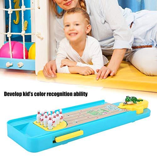 Alomejor Mini Bowling Spiel Set Family Party Desktop Spielzeug für Kinder Erwachsene Finger Hand Stressabbau und Kill Time