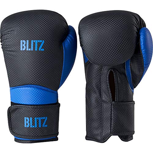 Blitz Centurion Boxhandschuhe, schwarz/blau, 396,9 g (14 oz)