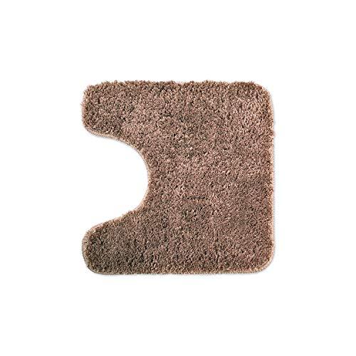 WohnDirect Tapis de Bain Marron • Sets modulables • Antidérapant, Absorbant et Doux• découpe WC, 45x45cm