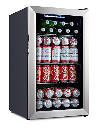 Kalamera 70L beer drink wine beverage fridge small under counter mini bar cooler Compressor 93 Can Stainless steel door