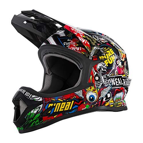 O'NEAL | Mountainbike-Helm | Kinder | MTB Downhill | ABS Schale, Lüftungsöffnungen für optimale Belüftung & Kühlung, Sicherheitsnorm EN1078 | Sonus Youth Helmet Crank | Multi | Größe L
