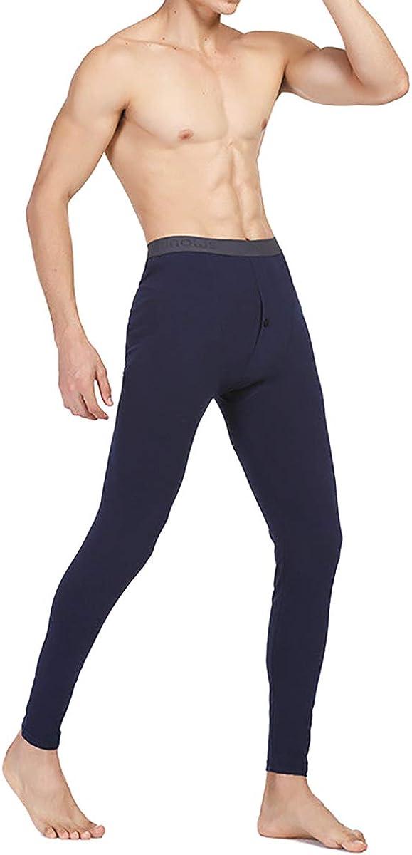 jweemax Men Thermal Underwear Bottoms, Leggings Pants Stretch Base-Layer Pant Winter Men