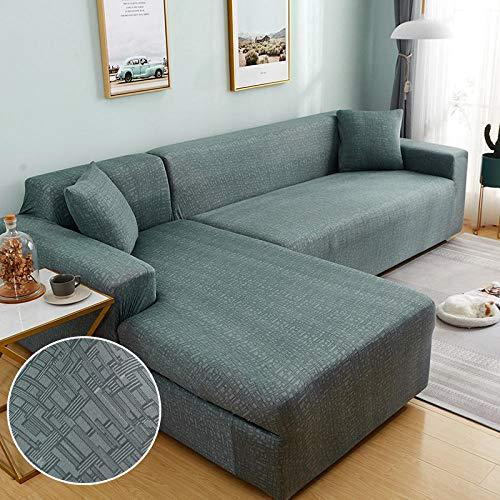 B/H Funda de sofá elástica Todo Incluido,Funda de sofá elástica para la Esquina de la Sala de Estar en Forma de L Longue Sofa Slipcover-6_190-230cm,Funda de sofá elástica antiarañazos
