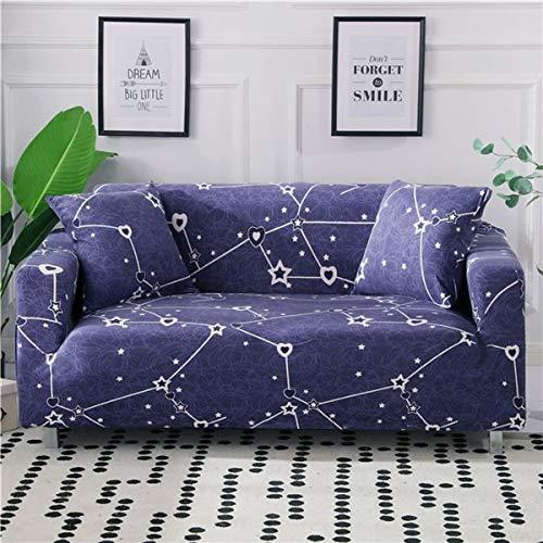 ASCV Elastic Slipcover Sofa Stretch L-Form Couchbezug Schnittsofa Bezug für Wohnzimmermöbel Sessel A12 2-Sitzer